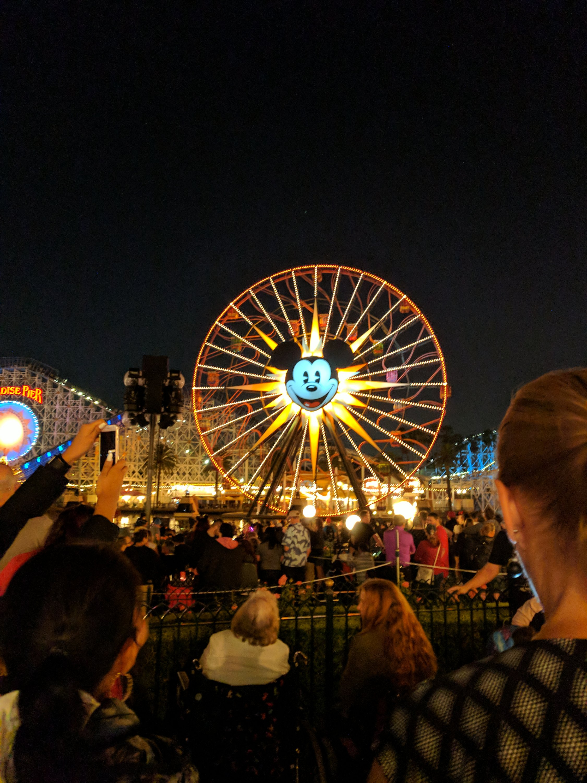 Micky Ferris Wheel at Night, Disneyland