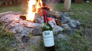 Wine and Campfire