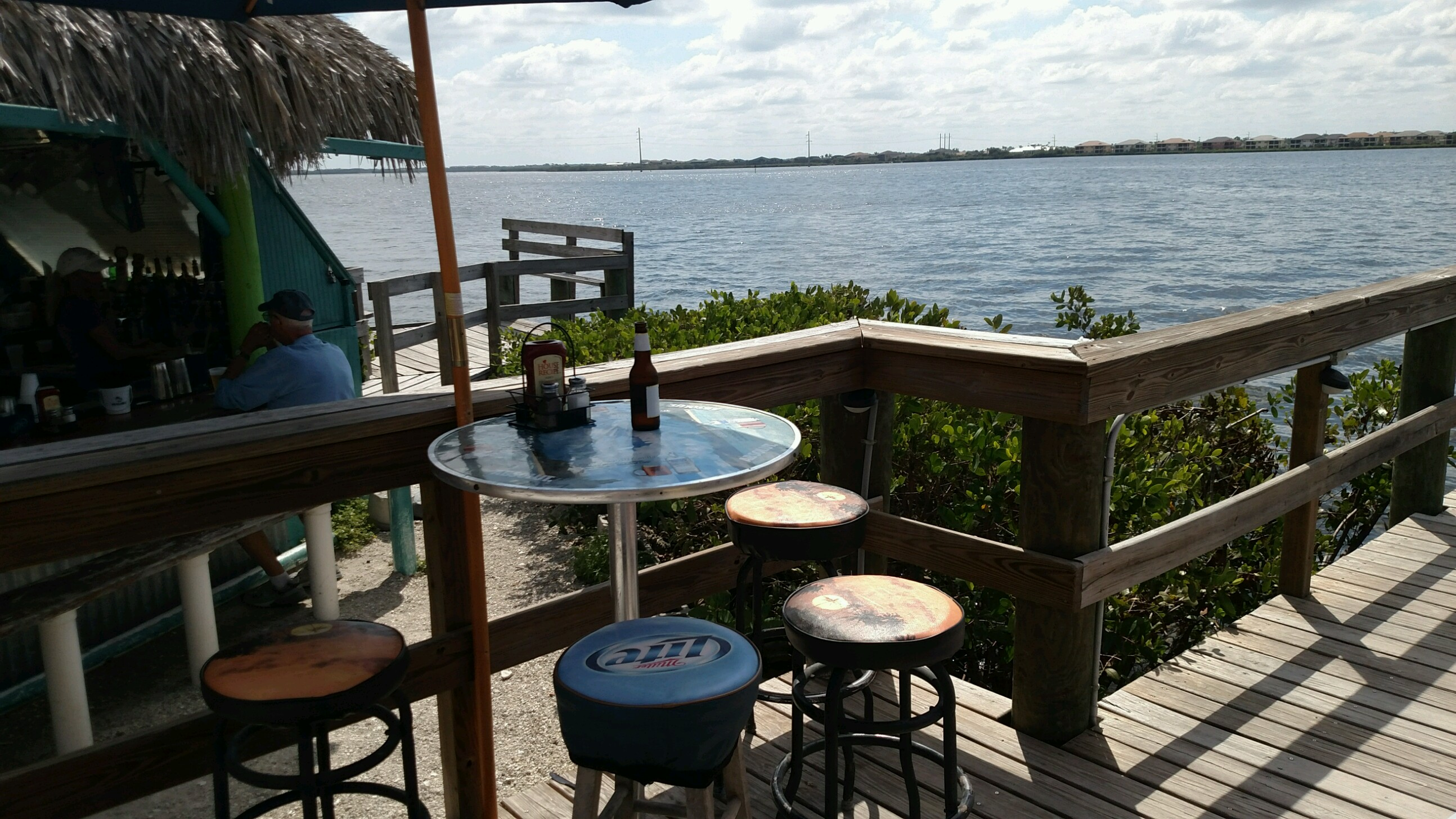 Seating on the Pier at Woody's River Roo