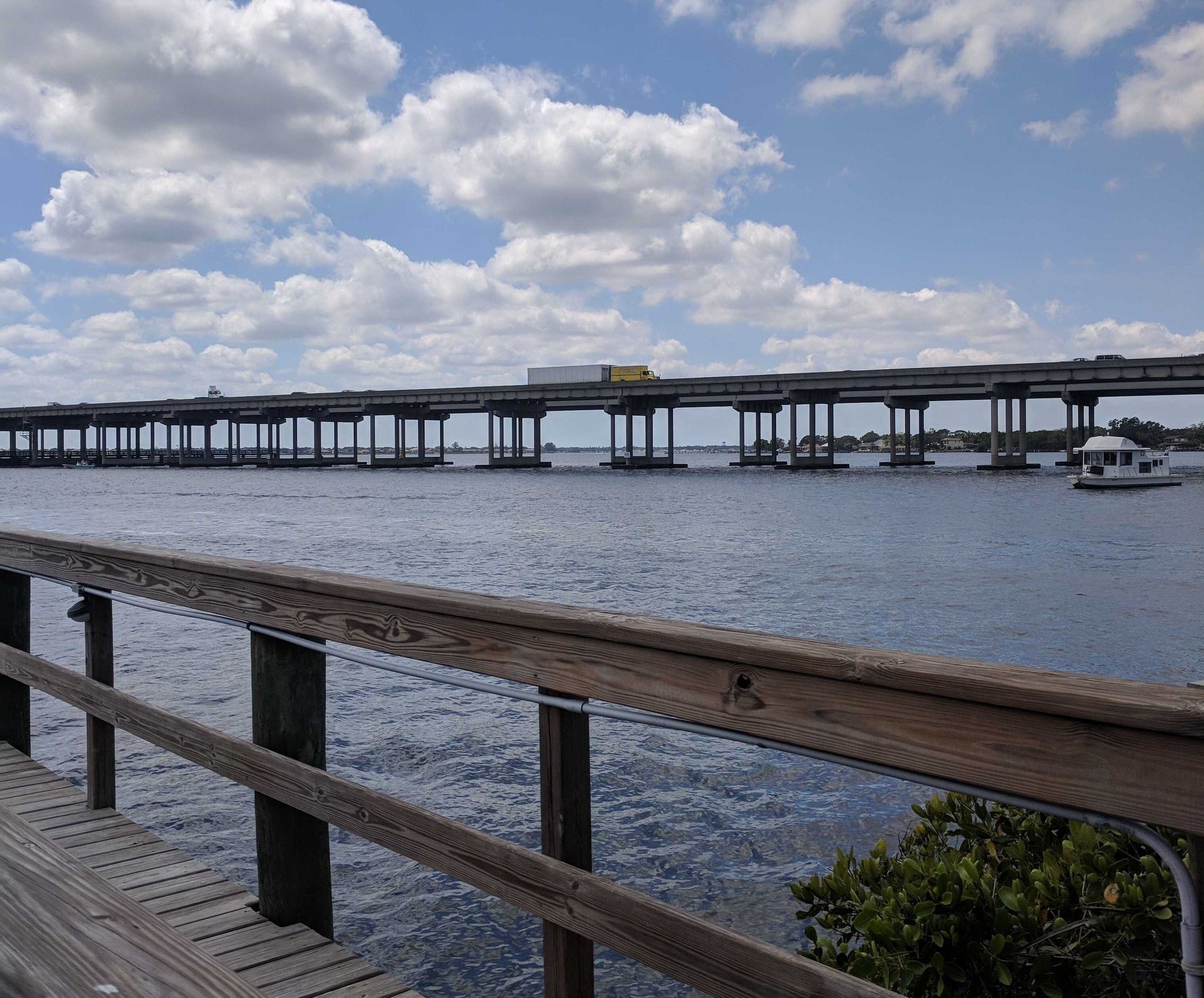 View of Manatee River and Bridge at Woody's River Roo
