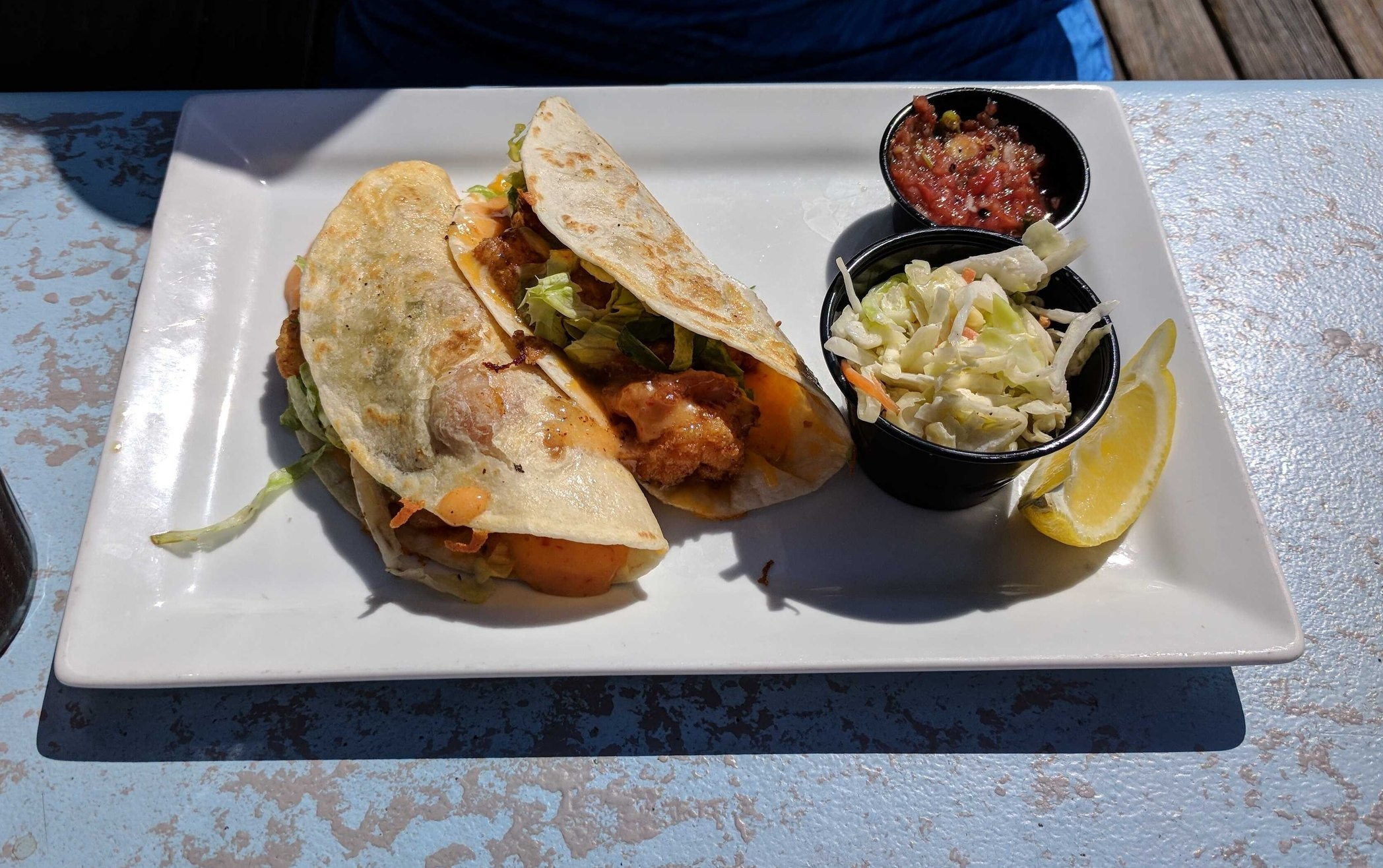 Fish Tacos at Swordfish Grill
