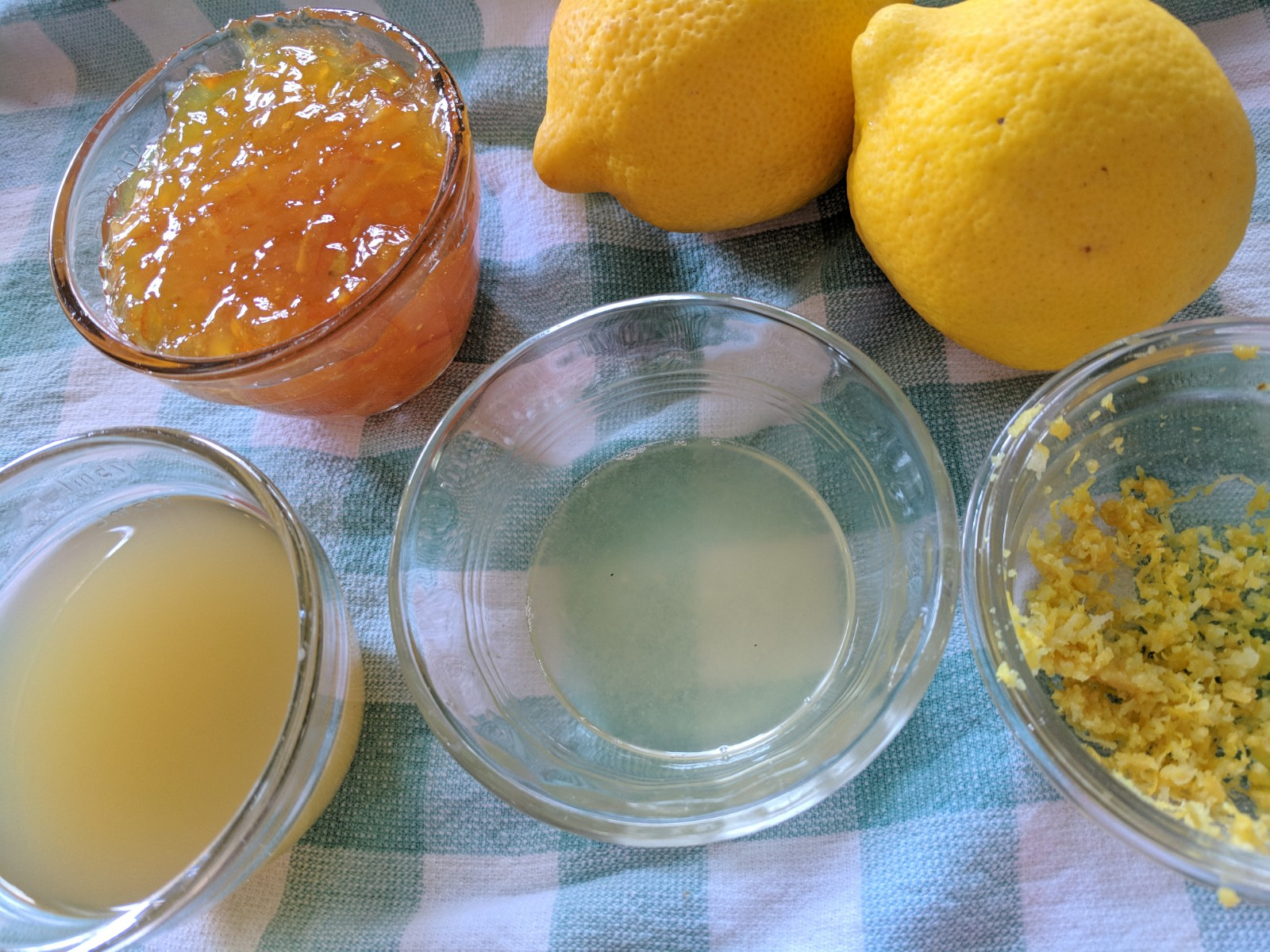 ingredients for orange marmilade