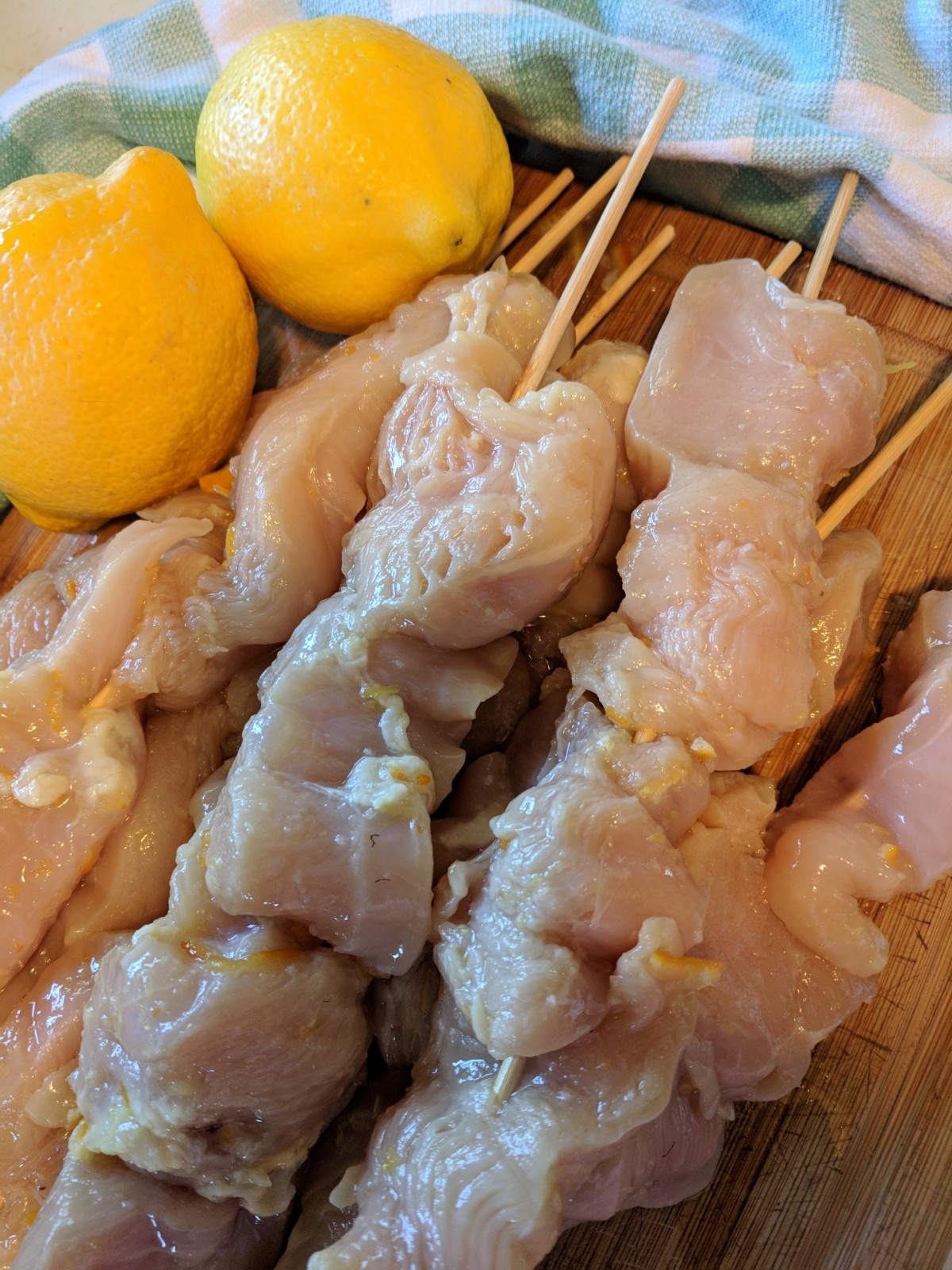 orange marmalade chicken ready for the grill