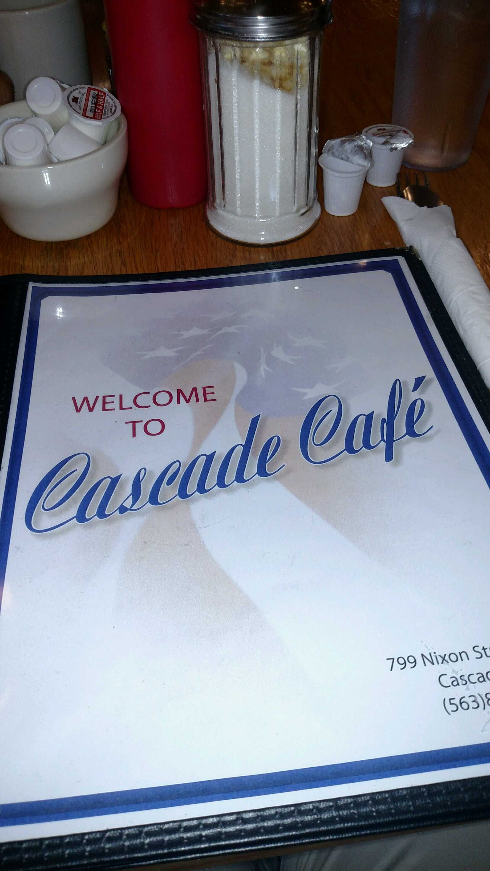 Cascade Cafe Menu