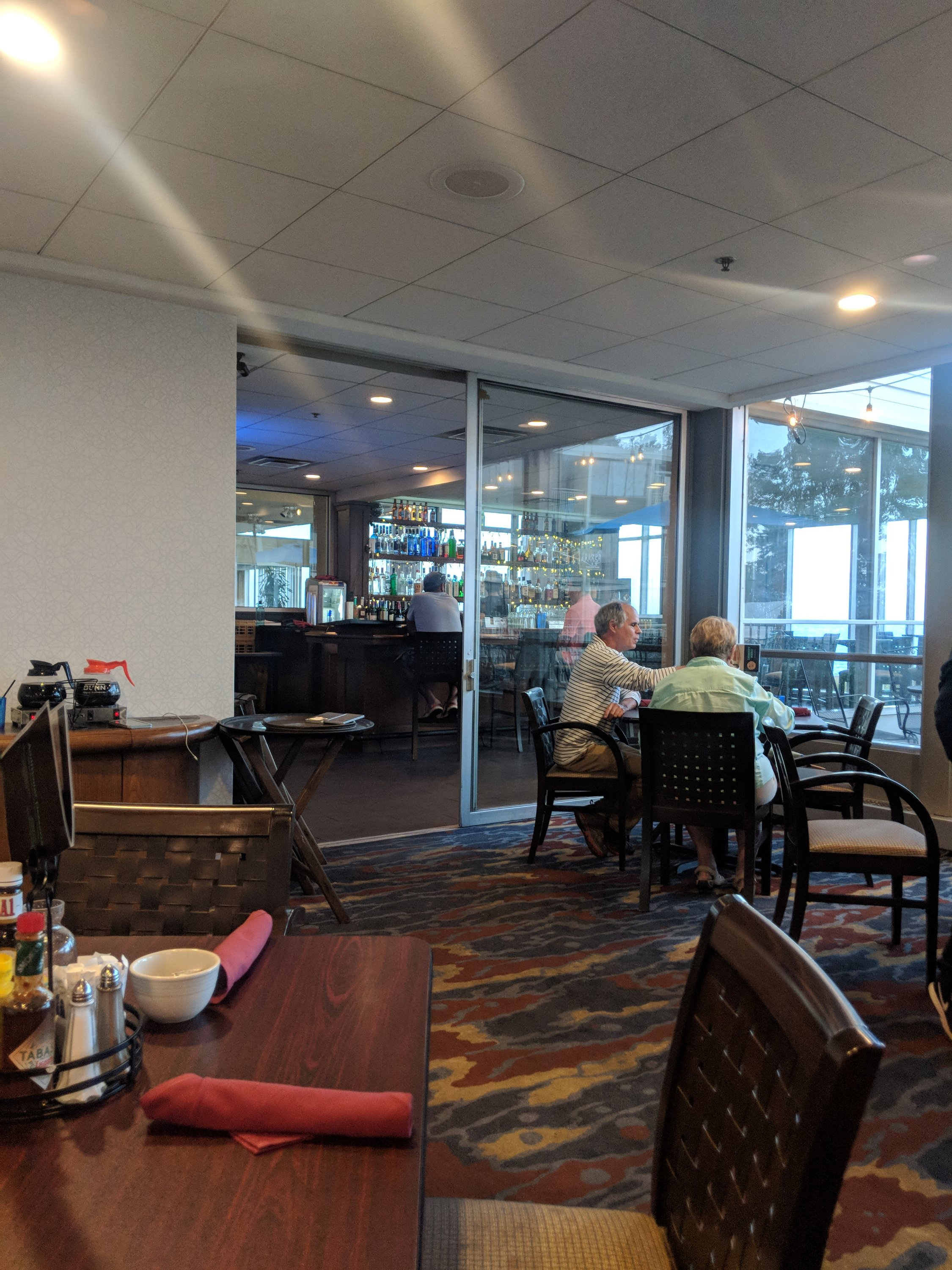 Dining room and bar at The Illinois Beach Hotel