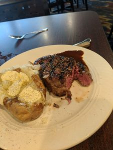 Filet Mignon at Illinois Beach Hotel in Zion Illinois
