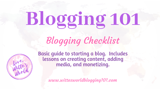 Simple Blog Checklist To Help Start Your Blog