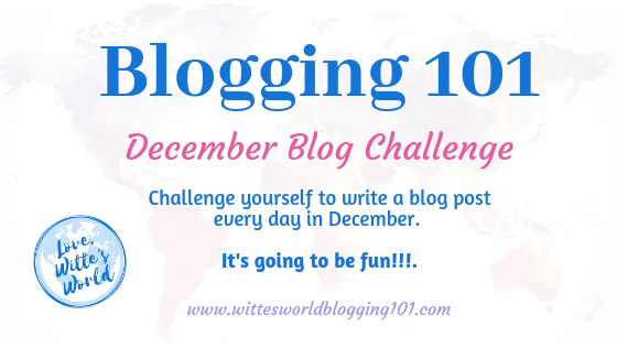 31-Day Blog Challenge for December