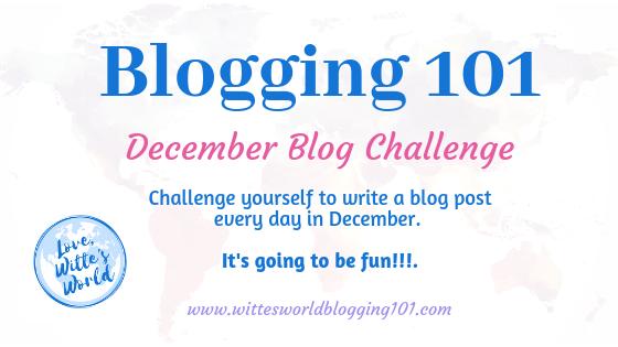 31-Day Blog Challenge for December