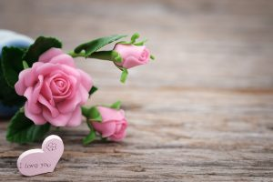 February Love Challenge flowers with I Love you