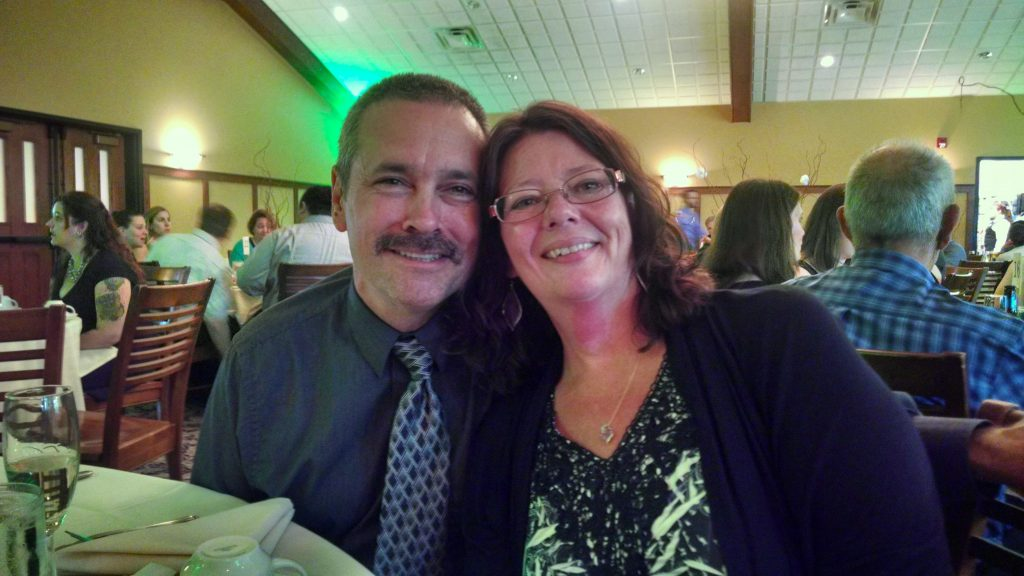 Fred and Linda at wedding