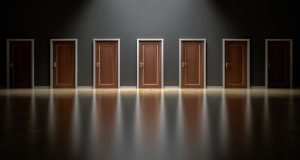 These are the doors of choices, which one you choose will create who you are.