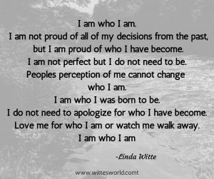 Poem about being me and owning my choices and decisions.